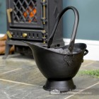 """Waterloo"" Black Iron Coal Bucket in Situ by the Fireplace"
