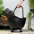 """""""Waterloo"""" Black Iron Coal Bucket to Scale"""