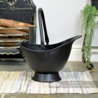 "Side View of the ""Waterloo"" Black Iron Coal Bucket"