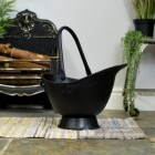 Waterloo Black Iron Coal Bucket in Situ Next to the Fireplace