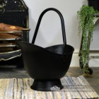 """Waterloo"" Iron Coal Bucket Finished in Black"