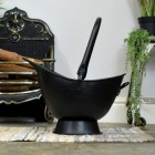 """Waterloo"" Black Iron Coal Bucket with Top Carry Handle"