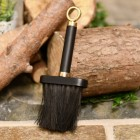 Black & Brass fireplace brush