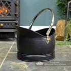 Black & Nickel Traditional Coal Bucket