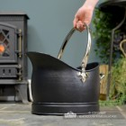 """""""Hinswick"""" Victorian Black Iron and Nickle Coal Bucket to Scale"""