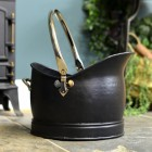 Traditional Victorian Coal Bucket Finished in Black & Nickel