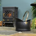 """""""Hinswick"""" Victorian Coal Bucket in Situ Next to the Fireplace"""