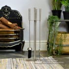 """The Sedgley"" Stainless Steel Companion Set by an Open Fire"