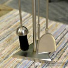 "Close-up of the tools on the ""The Sedgley"" Stainless Steel Companion Set"