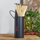 Black Match stick holder with extra long fire matches