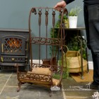 """Downton Abbey"" Rustic Brown Log Store to Scale"