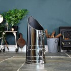 'Rosalie' Coal Hod - Polished Steel