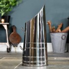 Coal Hod- Polished Steel