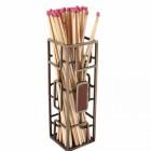 beautiful Fireplace tidy Match stick holder