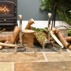 Modern Fire place fire dogs