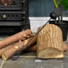 Traditional Black Fireside Brush in Situ Next to the Fireplace