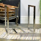 "Stainless Steel ""Kresling Hall"" Log Holder"