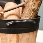 Close-up of the Carry Handles on the Log Holder