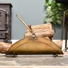 Indoor fireplace log basket