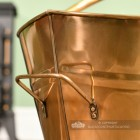 """Carry Handle on the Back of the """"Colnbrook Manor"""" Antique Brass Coal Bucket"""