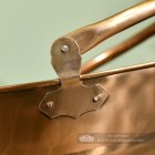 Close-up of the Antique Brass Finish