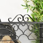 close up of wrought iron heart detail