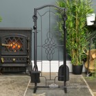 """Dawnmead House"" Gothic Fireside Companion Set By Stove"