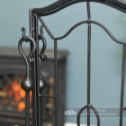 """Dawnmead House"" Gothic Fireside Companion Set In Black"