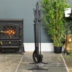 Black Gothic Style Fireside Tool Set