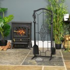"""Dawnmead House"" Gothic Fireside Companion Set In Living Room Setting"
