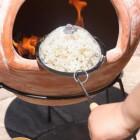 Fire Pit Popcorn Pan in Situ