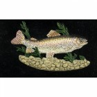 Cast Iron Effect Oval House Name Sign - Trout