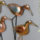 Close-up of the Copper Finish on the Wader Bird
