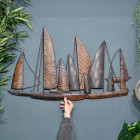 "Leaf Style ""Fleet of Boats"" Wall Art to Scale"