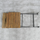 Industrial Dining Chair Folded