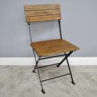 Folding Industrial Dining Chair in Situ