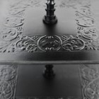 Detailing on the Black Three Tier Cake Stand