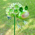 Garden Frog Spike finished In Green