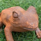 Frog Sculpture with a Rustic Finish