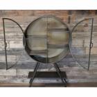Front Opening Doors on the Circular Industrial Freestanding Cabinet