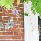 Galvanised Modern Overhanging Wall Light in Situ by the Front Door