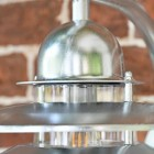 Close-up of the Contemporary Galvanised Design o the Top of the Wall Light