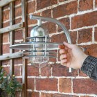 Galvanised Modern Overhanging Wall Light to Scale