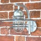 Galvanised Steel Modern Overhanging Wall Light in Situ