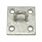 Galvanised Wall Chain Staple Plate For Chain