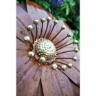 """Deluxe Gerbera"" Finished with lovely brass stamens"