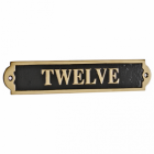 Gate Number Sign with the Number Twelve