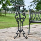 Cast Iron Aged Black Long Gothic Table