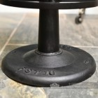 Genuine Brown Leather and Iron Bar Stool Base