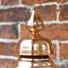 Genuine copper finial on hexagonal lantern